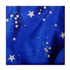 The Substance Blue Fabric Stars Tile Coasters