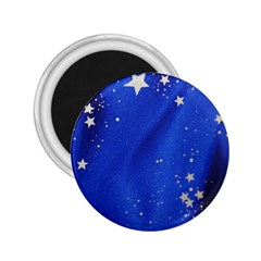 The Substance Blue Fabric Stars 2 25  Magnets
