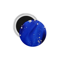 The Substance Blue Fabric Stars 1 75  Magnets