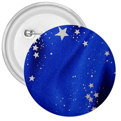 The Substance Blue Fabric Stars 3  Buttons