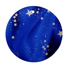 The Substance Blue Fabric Stars Ornament (round)
