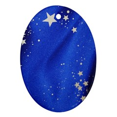 The Substance Blue Fabric Stars Ornament (oval)