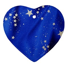 The Substance Blue Fabric Stars Ornament (Heart)