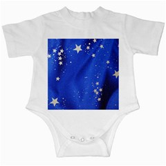The Substance Blue Fabric Stars Infant Creepers