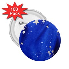 The Substance Blue Fabric Stars 2 25  Buttons (100 Pack)