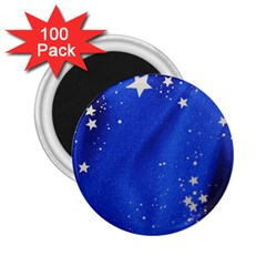 The Substance Blue Fabric Stars 2.25  Magnets (100 pack)