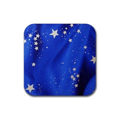 The Substance Blue Fabric Stars Rubber Square Coaster (4 pack)
