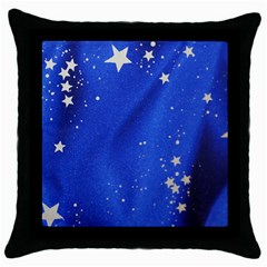 The Substance Blue Fabric Stars Throw Pillow Case (black)