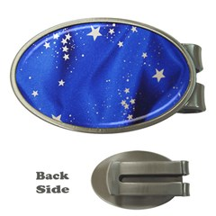 The Substance Blue Fabric Stars Money Clips (oval)