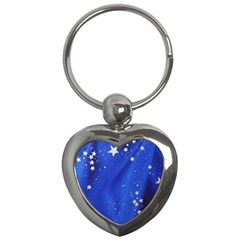 The Substance Blue Fabric Stars Key Chains (heart)