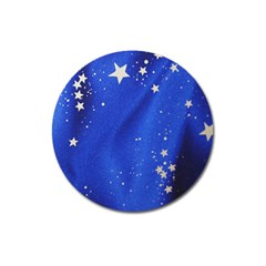 The Substance Blue Fabric Stars Magnet 3  (round)