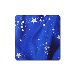 The Substance Blue Fabric Stars Square Magnet