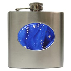 The Substance Blue Fabric Stars Hip Flask (6 Oz)