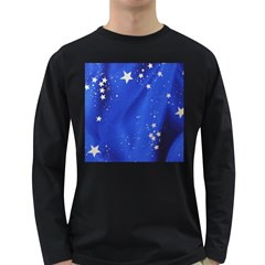 The Substance Blue Fabric Stars Long Sleeve Dark T Shirts