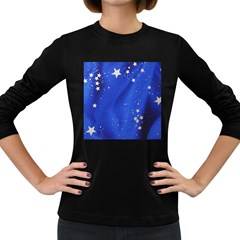 The Substance Blue Fabric Stars Women s Long Sleeve Dark T Shirts