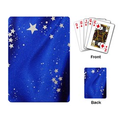 The Substance Blue Fabric Stars Playing Card