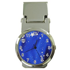 The Substance Blue Fabric Stars Money Clip Watches
