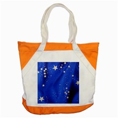 The Substance Blue Fabric Stars Accent Tote Bag