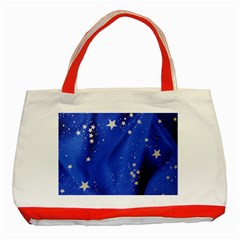 The Substance Blue Fabric Stars Classic Tote Bag (red)