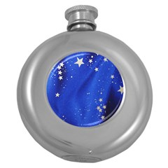 The Substance Blue Fabric Stars Round Hip Flask (5 Oz)