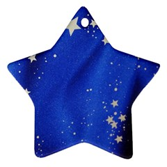 The Substance Blue Fabric Stars Star Ornament (two Sides)