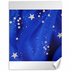 The Substance Blue Fabric Stars Canvas 12  X 16