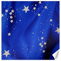 The Substance Blue Fabric Stars Canvas 16  x 16