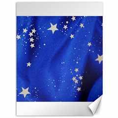 The Substance Blue Fabric Stars Canvas 36  X 48