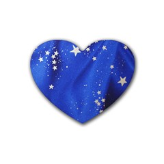 The Substance Blue Fabric Stars Rubber Coaster (heart)