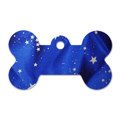The Substance Blue Fabric Stars Dog Tag Bone (two Sides)