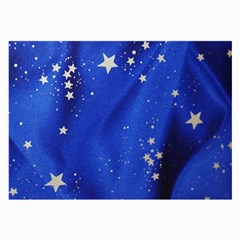The Substance Blue Fabric Stars Large Glasses Cloth