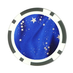The Substance Blue Fabric Stars Poker Chip Card Guard