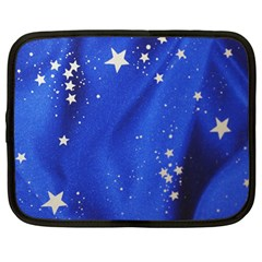 The Substance Blue Fabric Stars Netbook Case (large)