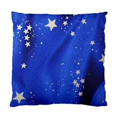 The Substance Blue Fabric Stars Standard Cushion Case (one Side)