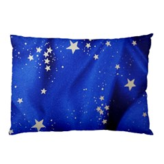 The Substance Blue Fabric Stars Pillow Case