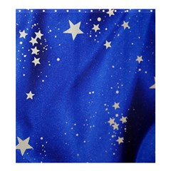 The Substance Blue Fabric Stars Shower Curtain 66  X 72  (large)