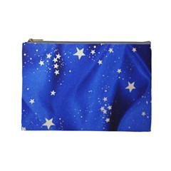 The Substance Blue Fabric Stars Cosmetic Bag (large)