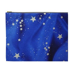 The Substance Blue Fabric Stars Cosmetic Bag (xl)