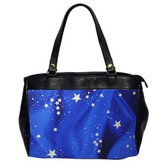The Substance Blue Fabric Stars Office Handbags (2 Sides)