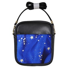 The Substance Blue Fabric Stars Girls Sling Bags
