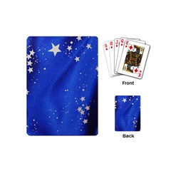 The Substance Blue Fabric Stars Playing Cards (mini)