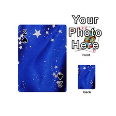 The Substance Blue Fabric Stars Playing Cards 54 (mini)