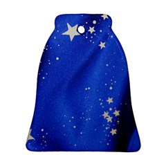 The Substance Blue Fabric Stars Ornament (Bell)
