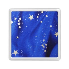 The Substance Blue Fabric Stars Memory Card Reader (square)
