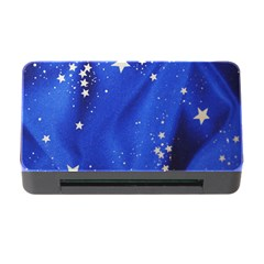 The Substance Blue Fabric Stars Memory Card Reader With Cf