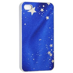 The Substance Blue Fabric Stars Apple Iphone 4/4s Seamless Case (white)