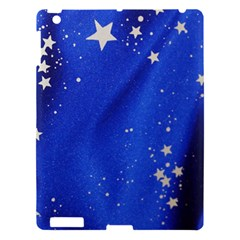 The Substance Blue Fabric Stars Apple Ipad 3/4 Hardshell Case