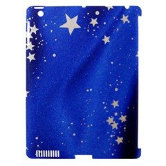 The Substance Blue Fabric Stars Apple Ipad 3/4 Hardshell Case (compatible With Smart Cover)