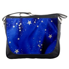 The Substance Blue Fabric Stars Messenger Bags