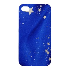The Substance Blue Fabric Stars Apple Iphone 4/4s Premium Hardshell Case